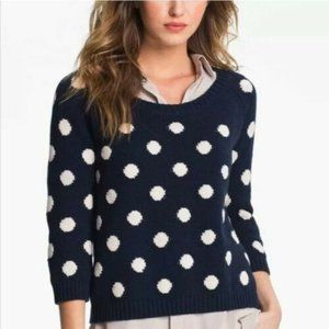 Lucky Brand | Polka Dot Sweater Small 3/4 Sleeves